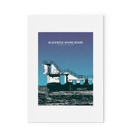Jando Designs Blackrock Diving Board A4 Print