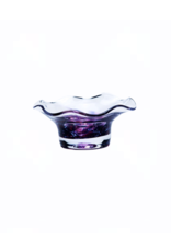 Jerpoint Glass Scalloped Nut Bowl - Berry