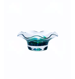 Jerpoint Glass Scalloped Nut Bowl - Seascape