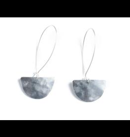 Daki Daki Design Small Halfmoon Aluminium Earrings