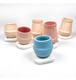 Orla Culligan Mini Vase - Peach