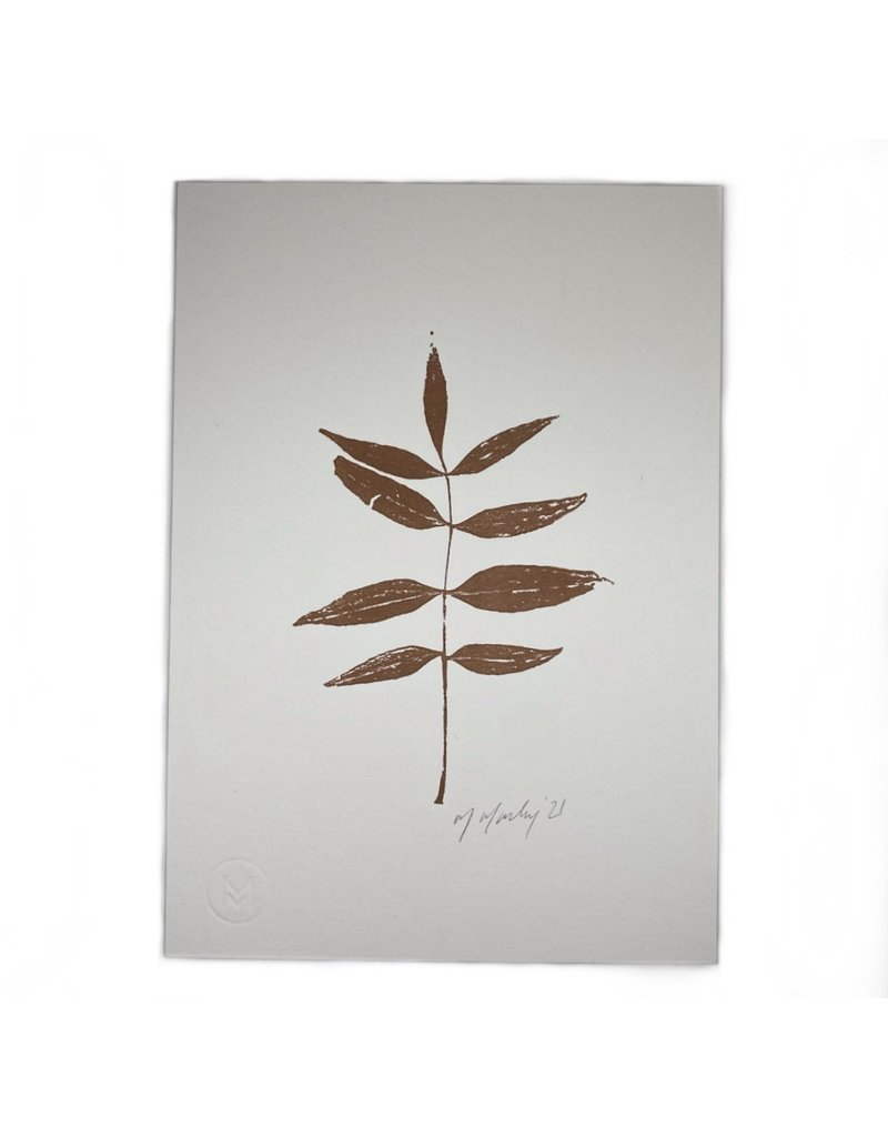 Maggie Marley Copper Willow Leaf Botanical A5 Print