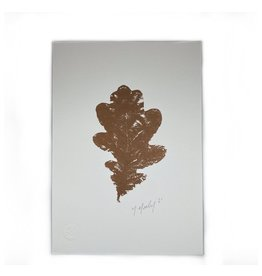 Maggie Marley Copper Oak Leaf Botanical A5 Print