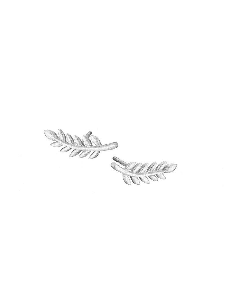 Mary k Jewellery Silver Leaf Stud Earrings