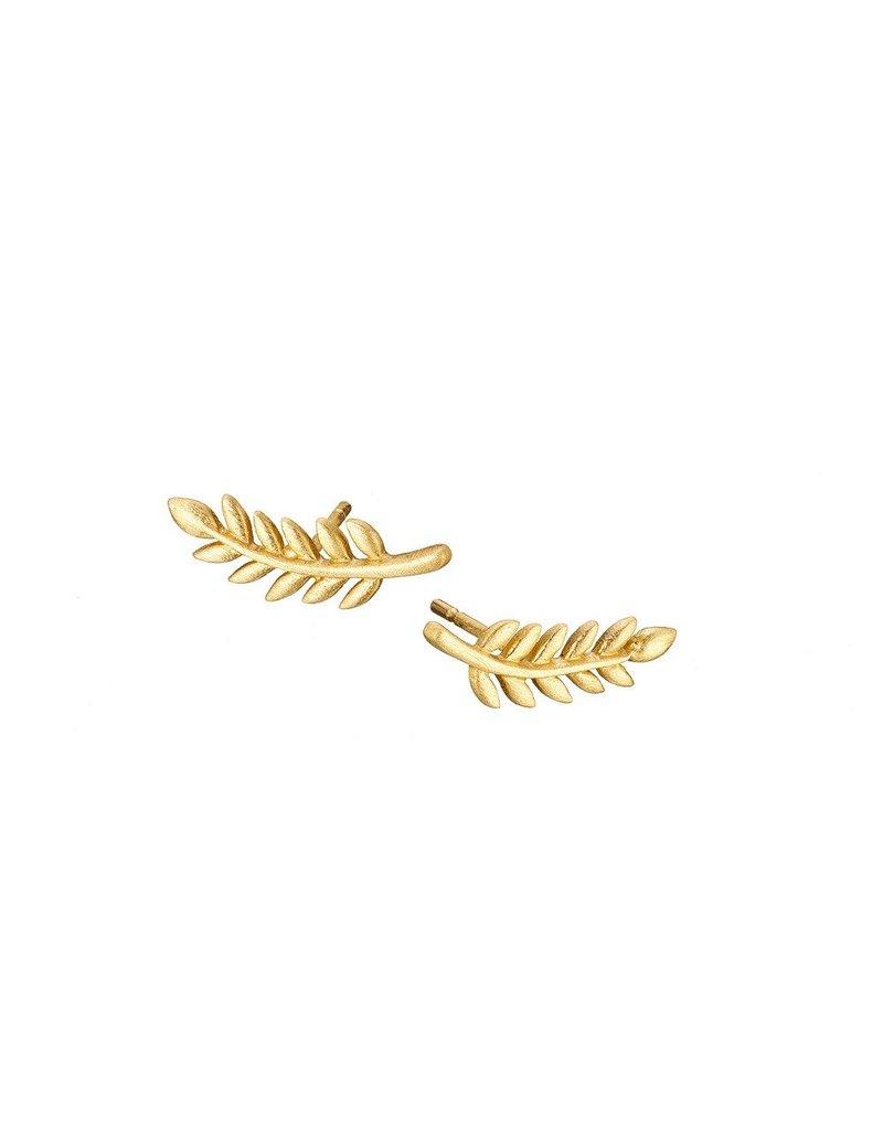 Mary k Jewellery Gold Leaf Stud Earrings