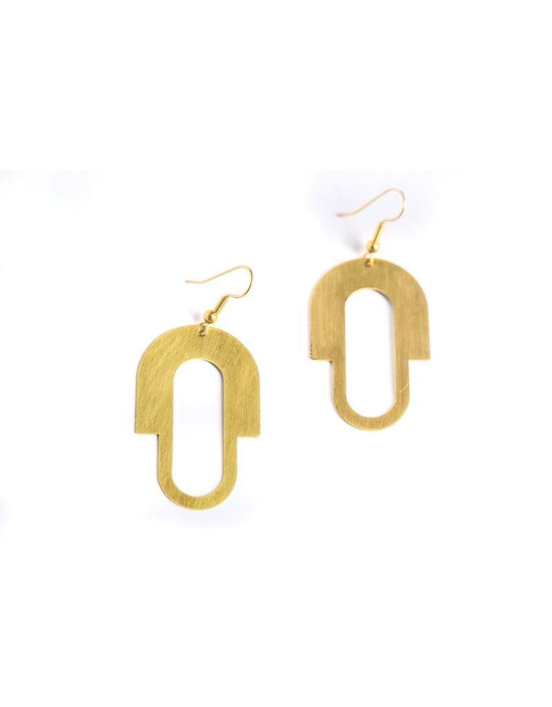 Daki Daki Design Sofia Brass Earrings