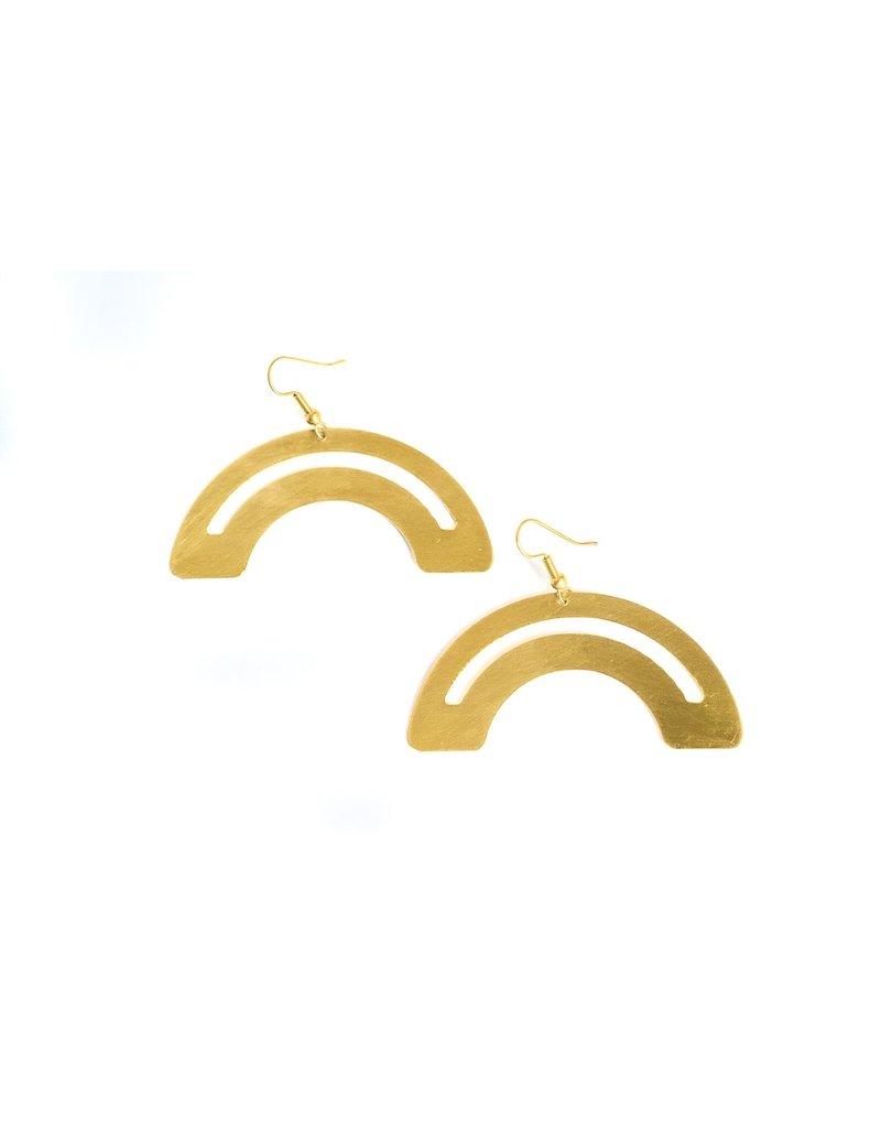 Daki Daki Design Roza Brass Earrings
