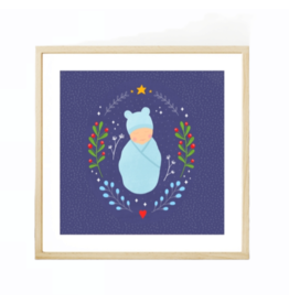 Fleur and Mimi Winter Baby Square Unframed Print