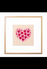 Fleur and Mimi Love Hearts Square Unframed Print
