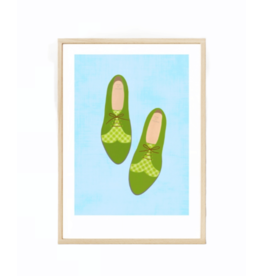 Fleur and Mimi Broga A4 Unframed Print