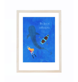Fleur and Mimi The Sea is Calling Me A4 Unframed Print
