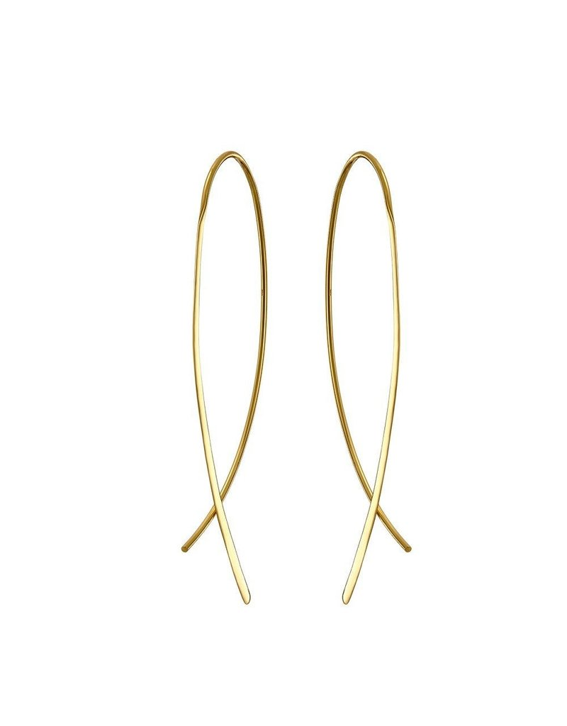 Mary k Jewellery Gold Crossover Large Earrings