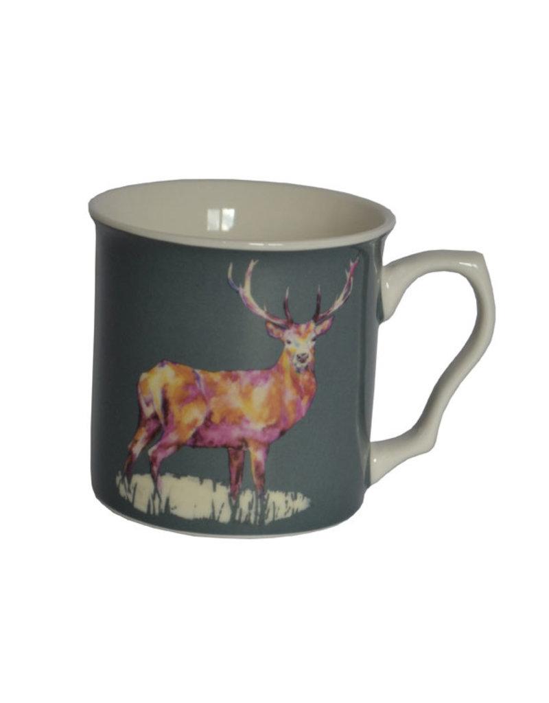 Lorraine Fletcher 'Midnight Watch Stag' Mug