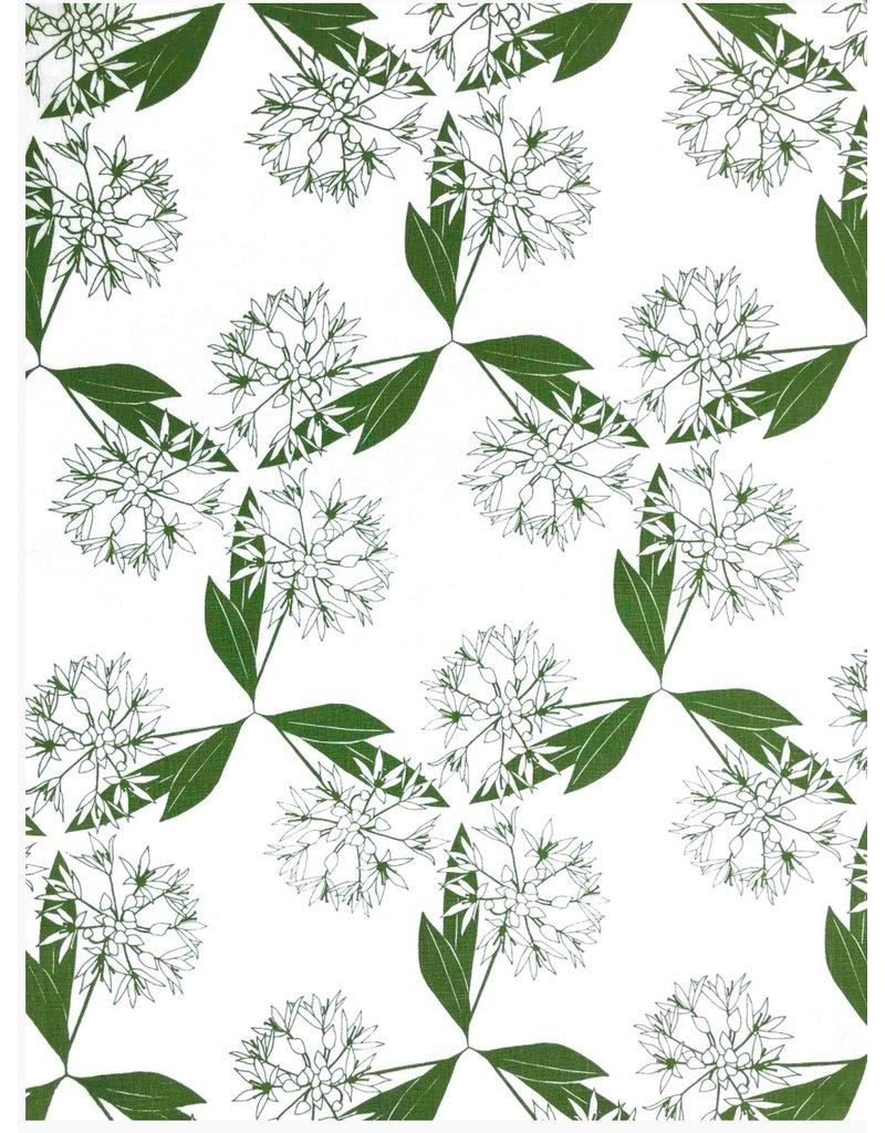 Jupiter Red Wild Garlic Linen Tea Towel