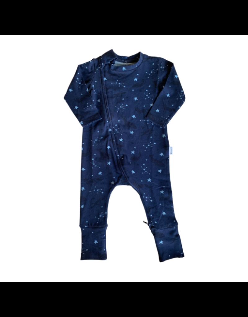 The Stork Box Navy Geo Zippy Sleepsuit 3-6 Months