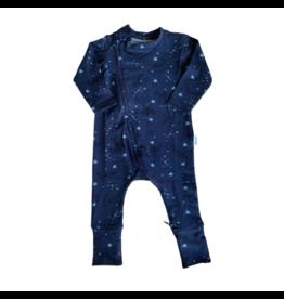 The Stork Box Navy Geo Zippy Sleepsuit 0-3 Months