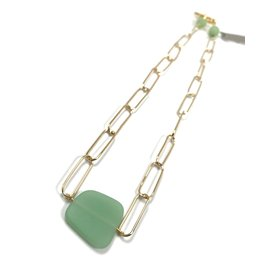 Vivien Walsh Gold Slab Necklace Mint