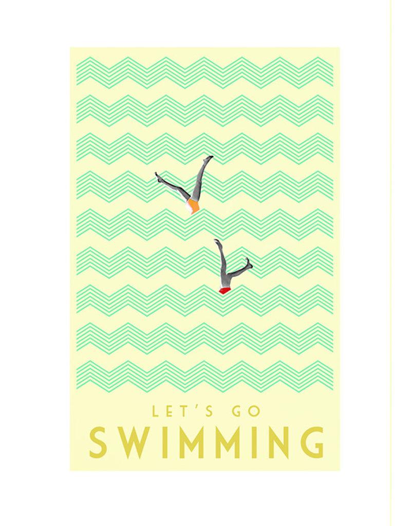 Marta Barcikowska Let's Go Swimming A4 Print