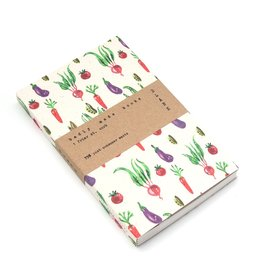 Badly Made Books A5 Lined Notebook- Veggies