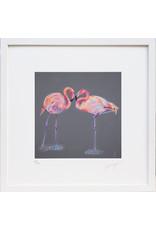 """Lorraine Fletcher """"Forever"""" Framed Flamingos Print"""