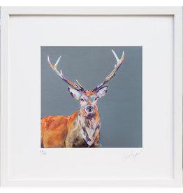Lorraine Fletcher 'Stag Night' Framed Print