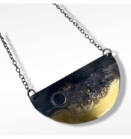 Ghost and Bonesetter Gealach Half Moon Necklace