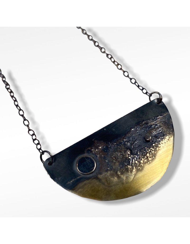 Ghost and Bonesetter Gealach Half Moon Hoop Necklace
