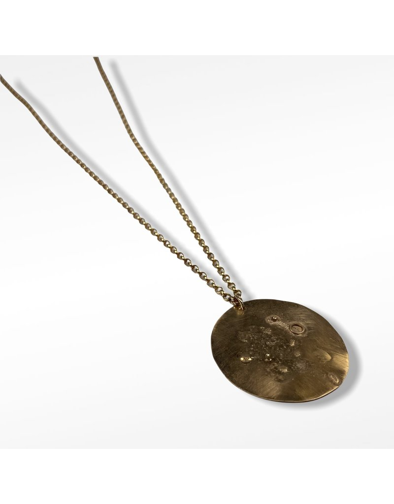 Ghost and Bonesetter Gealach Gold Large Pendant Necklace
