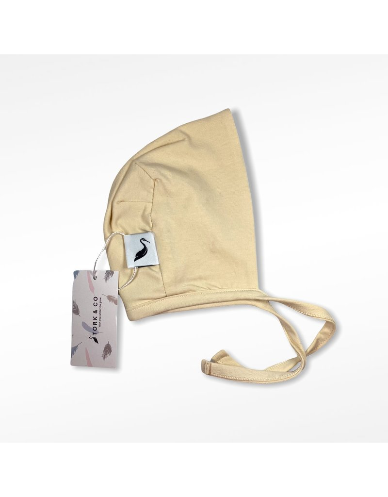 The Stork Box Neutral Baby Bonnet 0-6 Months