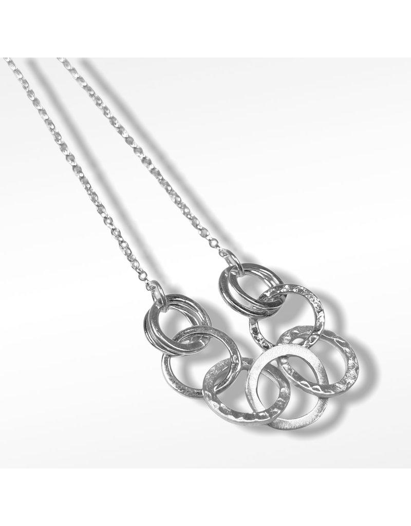Lynsey De Burca Silver Carran Link Necklace