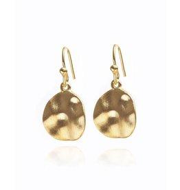 Gold Cornflake Earrings