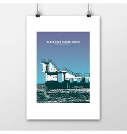 Jando Designs Blackrock Diving Board A4 Print