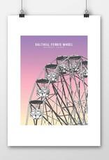 Salthill Ferris Wheel A4 Print Unframed