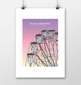 Salthill Ferris Wheel Print