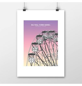 Jando Designs Salthill Ferris Wheel Print