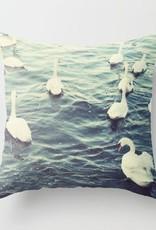 Claddagh Swans Cushion Cover