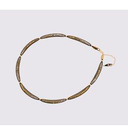 Topaz Gold Black Necklace