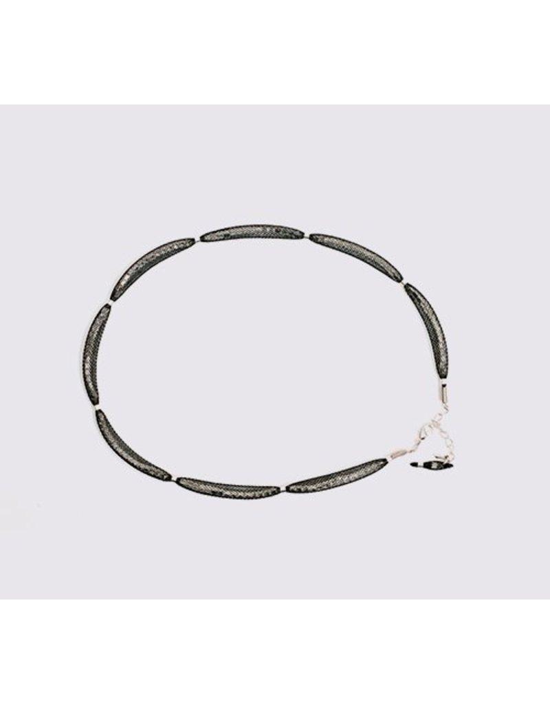 Topaz Silver Black Necklace