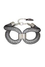 Karelian Silver Black Marline Cuff Bracelet