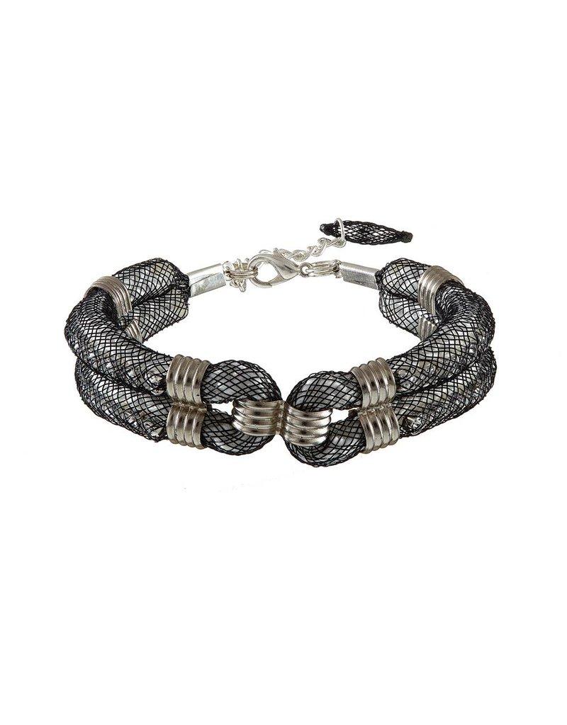 Blaithin Ennis Karelian Silver Black Clove Cuff Bracelet