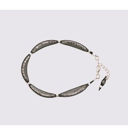 Blaithin Ennis Topaz Silver Black Bracelet