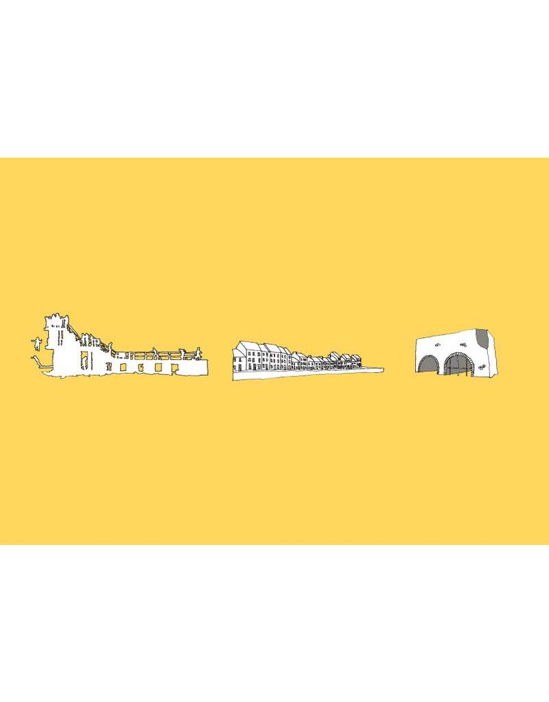 My Shop Collection Galway Icons A3 Print - Yellow