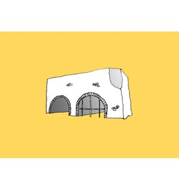 My Shop Collection Spanish Arch A3 Print- Yellow