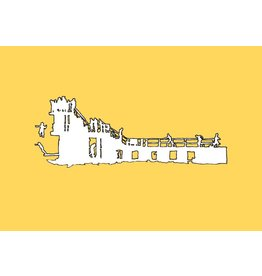 My Shop Collection Salthill Diving Board A3 Print- Yellow