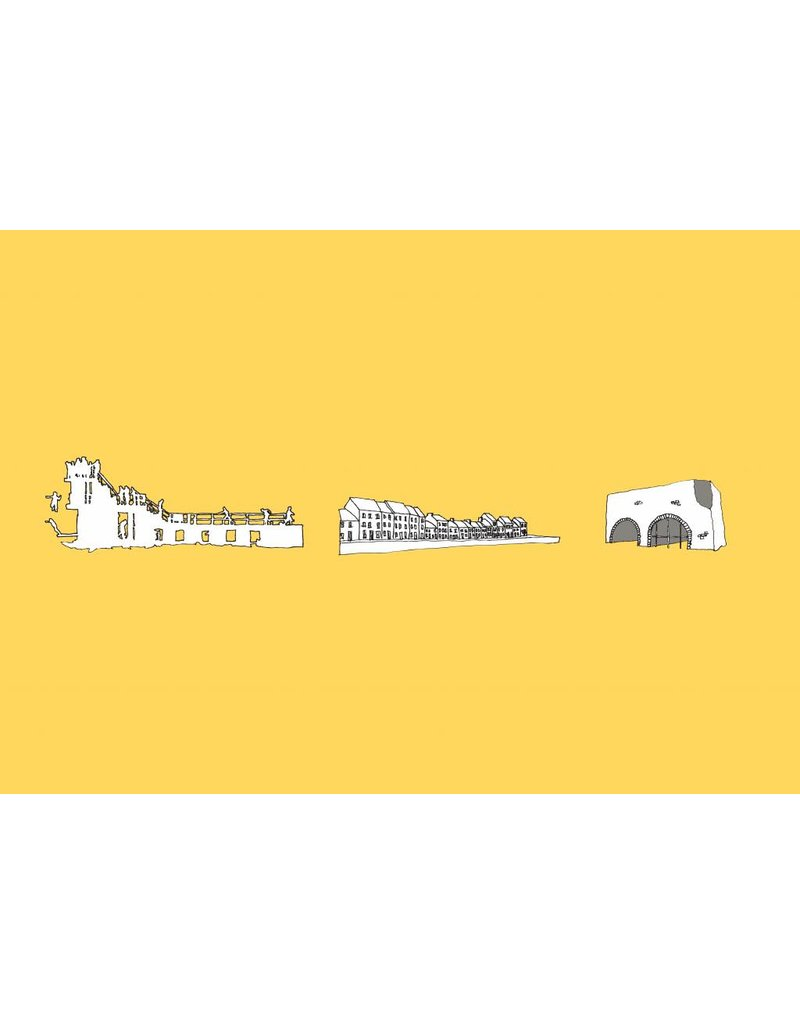 My Shop Collection Galway Icons A4 Print - Yellow