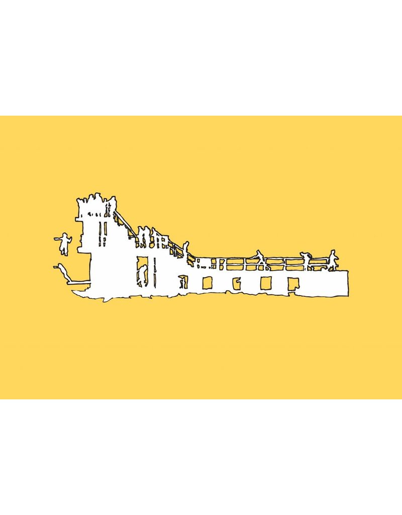My Shop Collection Salthill Diving Board A4 Print- Yellow
