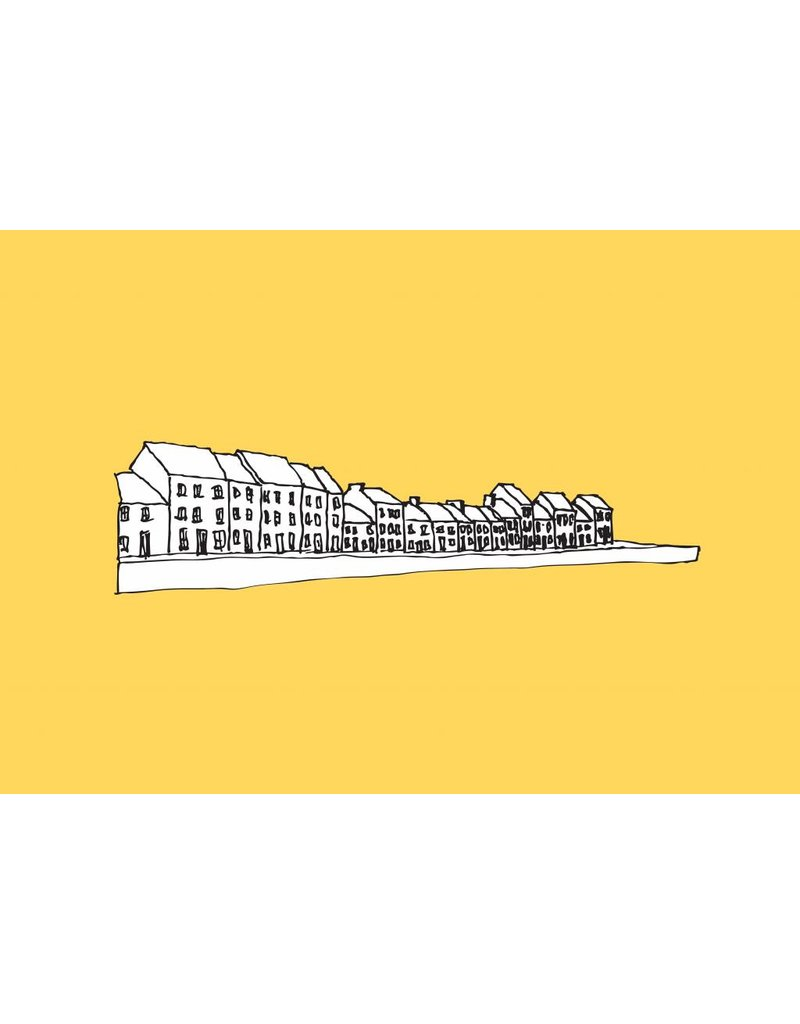My Shop Collection The Long Walk A4 Print - Yellow