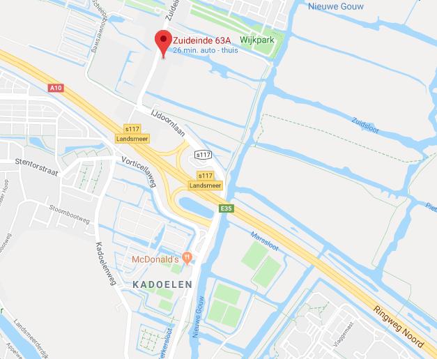 Showroom leren tassen bij Amsterdam