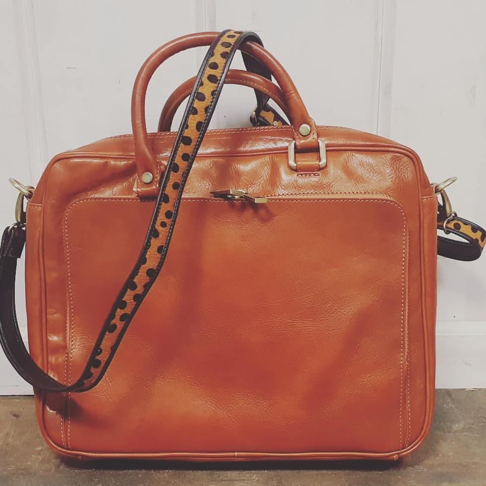 Zakelijke tas met hip dierenprint hengsel