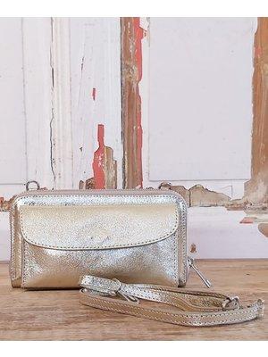 Joof Leren portemonnee uit Italie met hengsel goud